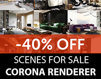 HOLIDAYS SALE! 40% OFF. CORONA RENDERER
