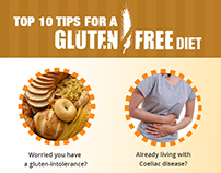 Top 10 Tips for a Gluten-free Diet-Infographic
