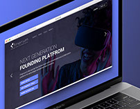 Startup website design concept