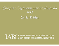 IABC Chapter Management Awards 2015 Call for Entries
