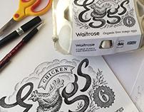 Waitrose eggs packaging
