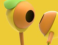 #FruitxEarphones