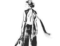 6 x A C R Y L / Black & White Fashionshilouettes