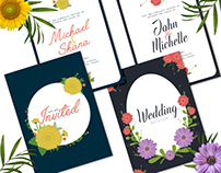 Floral Wedding Invitation Design Templates
