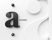 Art prints - 3d letters