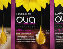 Garnier olia - Haircare Design Packaging