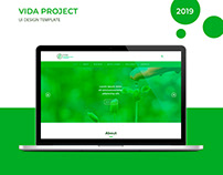 UI Template Design - VIDA project