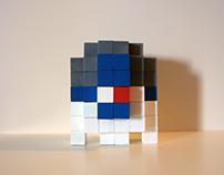 3D Pixel Figures