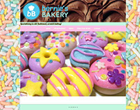 """Bernie's Bakery"" website home page concept layout."