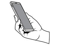 Smartphone in hand vector clip art