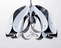 Droplet pendant light - White / Black