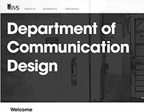 IVS communication design website - rebranded