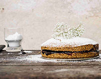 Food Photography-A rustic cake-