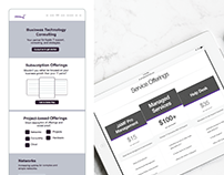 Pricing table & Wireframe