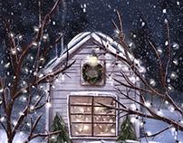 Christmas House, Procreate, iPad Pro, Animation AE