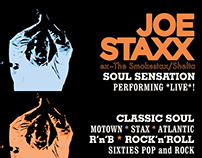 Joe Staxx logotype and promo material