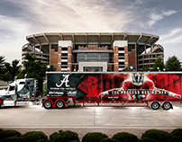 Alabama Football Equipment Truck