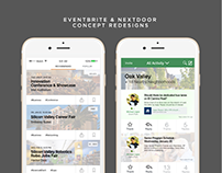 Eventbrite & Nextdoor Concept Redesigns