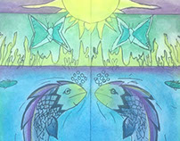 Art Nouveau Inspired Stained Glass Illustrations Gr. 7