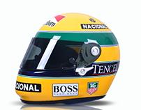 """Senna Replica Shoei Quatro """"93 Livery"""
