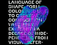 Cinema 4D Typography. 2020 student works