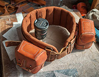 photographer`s belt and harness