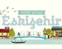 Infographic Tourist Routes for Eskişehir