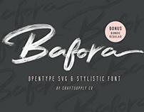 Bafora - Brush Svg Font (Free Download)
