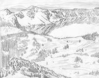 Crater Lake Sketches