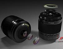 Canon 250D DSLR lens