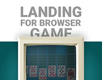 Landing for browser game