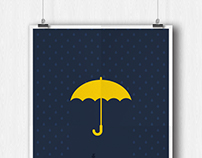 Minimalist How I Met Your Mother poster design