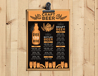 Beer menu template for bar
