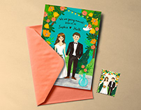 Wedding Card Design 花草客製化喜帖設計