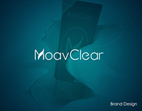 MoavClear corporate identity design, natural cosmetics