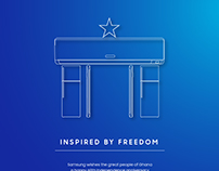 Samsung Ghana independence poster
