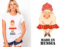 """Принты на футболки для благотворительного проекта """"Добр"""
