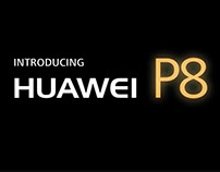 Animación 3d para evento huawei P8
