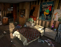 Dirty Apartment: 3D Digital Lighting and Texturing