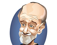 George Carlin Caricature Vector
