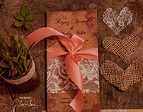 Rustic Vintage, Wedding Invitation Card design