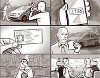 CROOVE car rental - storyboards