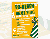 Grafikdesign / Flyer FC Nesen Fasching