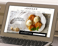 GRYCAN Ice Cream - Responsive Website Layout