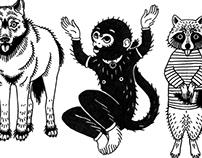 INK ANIMALS: revelation monkey & friends