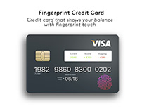 Credit Card Finger Print Touch
