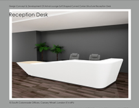 Curved Reception Desk Concept & Development /2017/