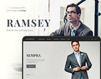 E-commerce UX/UI — Man clothing store — RAMSEY