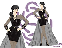 "Drawing illustrator and design ""sarah Tayel couture"