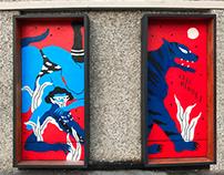 RED GALLERY WINDOWS